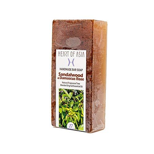 すすり泣き特異性重要香水のようなフレグランス石けん HANDMADE BAR SOAP ~Sandalwood&Damascus Rose~ (単品)
