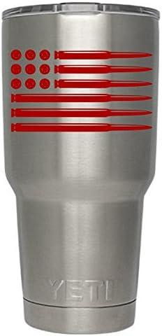 "American Flag Eagle 3/"" Vinyl Decal Sticker for Cup Tumbler Glass Mug Car"