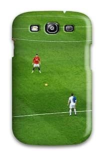Galaxy S3 Hard Back With Bumper Silicone Gel Tpu Case Cover Sport Mu Football