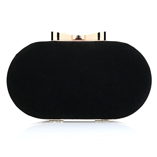 Party Evening Bag Shoulder Wedding Bag Black Womens Prom Bags Ladies Leather Clutch 1WXUcq0I