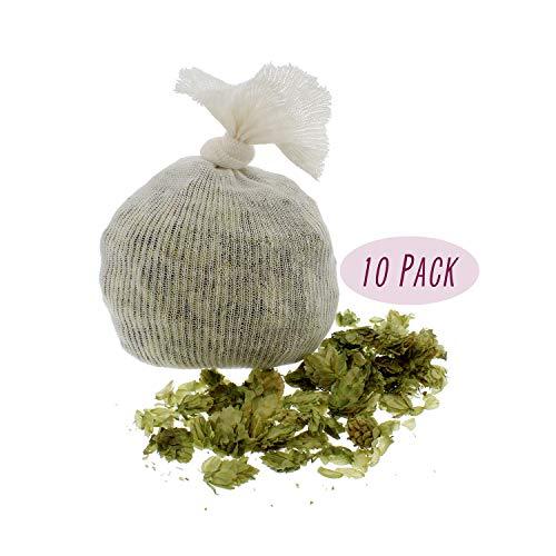 Muslin Cloth Steeping Bag - Reusable Mesh Strainer Bag - BIAB Grain Bag, Hops Bag, Brew Bag, Homebrew - Pack of 10