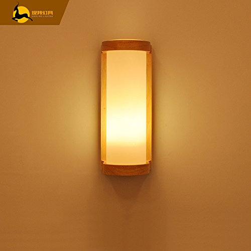 Bespd japanese style wooden wall lights living room restaurant bespd japanese style wooden wall lights living room restaurant corridor staircase bedroom bedside lamp bulb aloadofball Choice Image