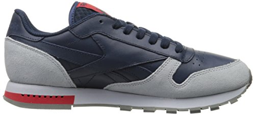 Fashion Alloy Collegiate Grey Reebok Men Cloud Grey Leather Red CL Primal Navy Sneaker wxqI4UgF