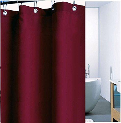 parte superior ESTORE Pure Color impermeable Mouldproof cortina de ducha (Super Thick cortina de baño (poliéster 180x...