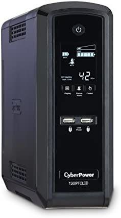 CyberPower CP1500PFCLCD PFC Sinewave UPS System, 1500VA/900W, 10 Outlets, AVR, Mini-Tower