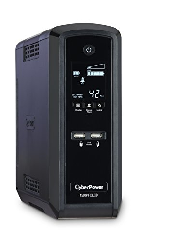 CyberPower CP1500PFCLCD PFC Sinewave UPS System, 1500VA/900W, 10 Outlets, AVR, Mini-Tower from CyberPower