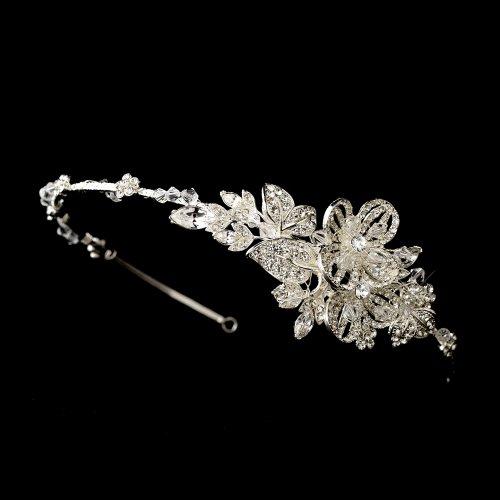 Beautiful Crystal Side Accented Wedding Bridal Headpiece ...