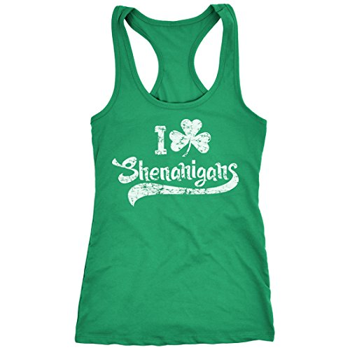 Patricks Day Womens Tank Top - Womens I Clover Shenanigans Tank Top Funny Saint Patricks Day Shirt (Green) XXL