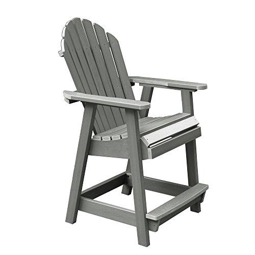 Highwood AD-CHCA2-CGE Hamilton Counter Height Deck Chair, Coastal Teak