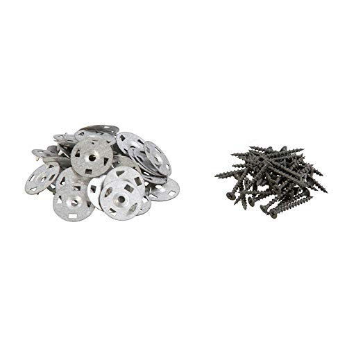 tiLite Backer Board Screw and Washer Pack (80-Piece) for Shower Underlayment