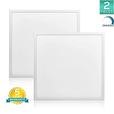 Luxrite LED Light Panel, 2x2 FT, 45W, 3000K Soft White, 4850 Lumens, 24x24 Inch LED Flat Panel, Dimmable, DLC Listed, UL Listed