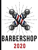 Barbershop - Barber Pole - Red, White, and Blue: 2020 Schedule Planner and Organizer / Weekly Calendar