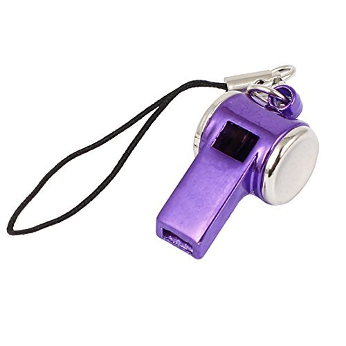 DealMux Metal Whistle Charm Lobster Clasp Nylon String Cell Phone Strap (Whistle Clasp)