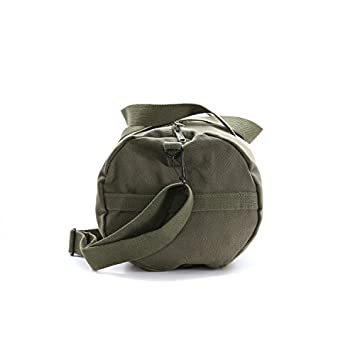US NAVY Text Army Sport Heavyweight Canvas Duffel Bag in Olive Black, Medium