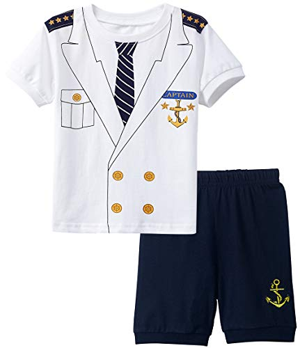 A&J DESIGN Halloween Boys' Captain Pajamas Costume Sets Kids PJS