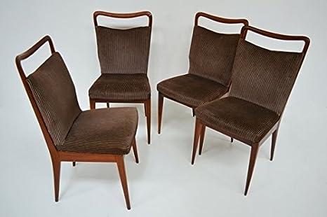 Asi set di quattro sedie stile gio ponti per isa italia anni