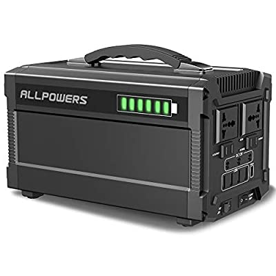 ALLPOWERS Portable Generator, 288W/780000mAh Power Station Power Suplply for Outdoors Camping Emergency Backup with Quiet DC/AC Power Inverter, Charged by Solar Panel/Wall Outlet
