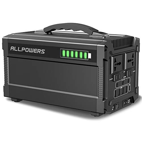 ALLPOWERS Portable Generator 288W/780000mAh Power Station Power Supply for Outdoors Camping Home Use Emergency Backup with Quiet DC/AC Power Inverter, Charged by Solar Panel/Wall Outlet