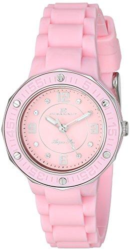 (Oceanaut Women's Acqua Star Stainless Steel Quartz Watch with Silicone Strap, Pink, 14 (Model: OC0436))
