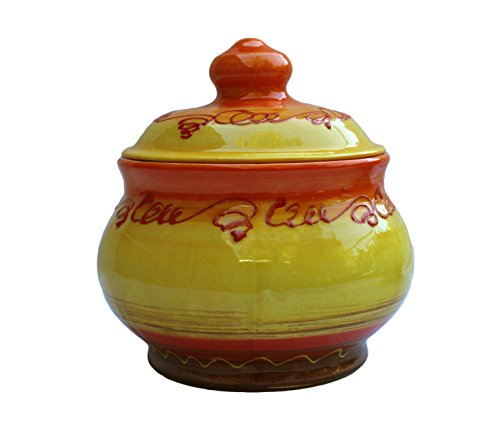 Storage Jar - 1 Quart - Hand Painted in Spain - Sol Design by Cactus Canyon Ceramics