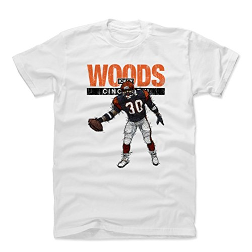 500 LEVEL Ickey Woods Cotton Shirt (X-Large, White) - Cincinnati Bengals Men's Apparel - Ickey Woods Touchdown Dance Cincinnati