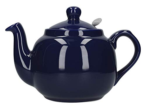 London Pottery Farmhouse Loose Leaf Teapot with Infuser, Ceramic, Cobalt Blue, 4 Cup (1 Litre)