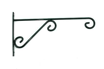 12u0026quot; X 6u0026quot; Indoor Outdoor Green Metal Iron Wall Brackets Garden  Hanging Plant Hooks