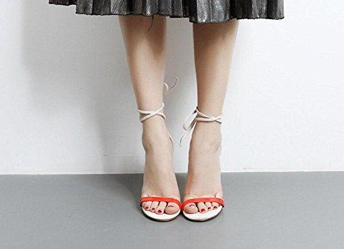 Scarpe pompe di i Bar di donne Visualizza modo pompa Cinturino estate sandali nuovo apricot Scarpette GLTER sandali vuoti Word T TwtxcCO5q4