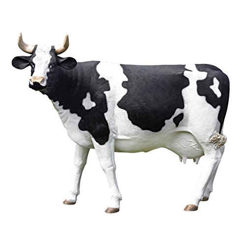 Design Toscano The Grand-Scale Wildlife Animal Collection, Holstein Cow Statue (Grand Wildlife Scale Animal)