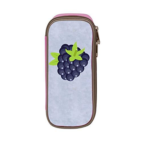 bagshome Large Capacity Canvas Pen Bag Holder Girl Print Cartoon Grape Pink ()