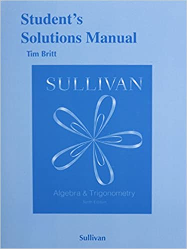 Students solutions manual for algebra and trigonometry michael students solutions manual for algebra and trigonometry 10th edition fandeluxe Images