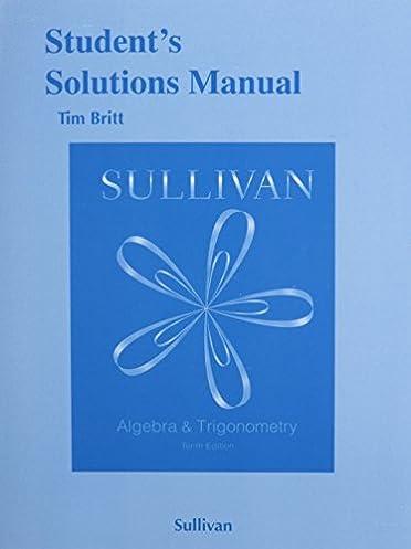student s solutions manual for algebra and trigonometry michael rh amazon com