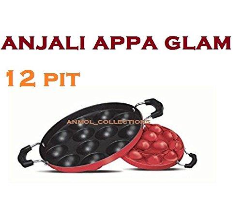 anjali-12-pit-appam-maker-premium-quality-with-lid-chetty-paniyaram-pan-patra-with-dhl-shipping
