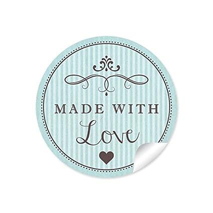 24 pegatinas: 24 hermosas etiquetas con corazón y adornos ...