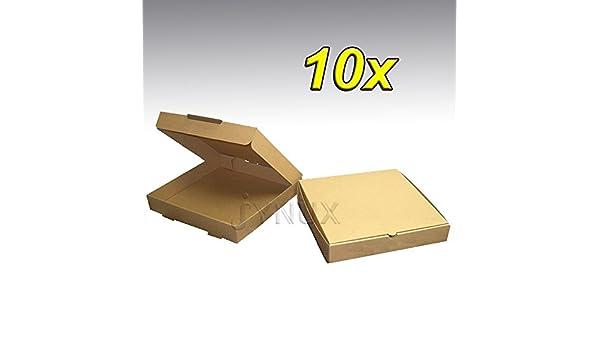 Kraft - Caja de cartón para pizza (30,5 x 35,5 cm), color marrón 10x 12 inch: Amazon.es: Hogar