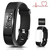 Coffea Fitness Tracker, Activity Tracker D1 Heart Rate Monitor, Smart Bracelet IP67 Waterproof Fitness Tracker Watch Step Counter, Calorie Burned Pedometer Watch Kids Women Men
