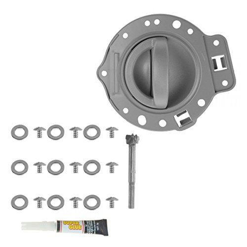 Door Handle & Bezel Repair Kit Gray Front or Rear Driver LH for 06-10 Commander Door Handle Gray Bezel