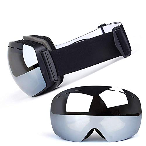 - Ski Goggles, Double-Decker Anti-Fog Ski Glasses Motorcycle Goggles Adult Outdoor Anti-Fog Windproof Ball Surface Can Be Card Myopic Glasses (Color : J)