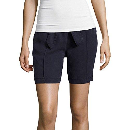 liz-claiborne-navy-pull-on-shorts-size-s