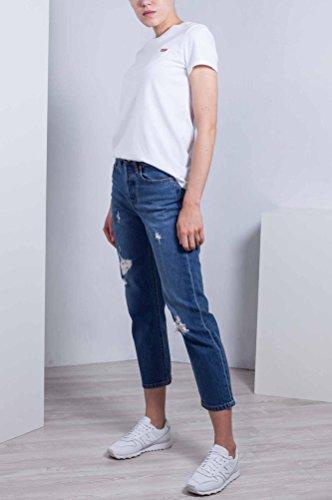 Wedgie Jeans 28 Alta Vita 501 Levi's A Con Taglia Strappi Donna qBfx5TvTt