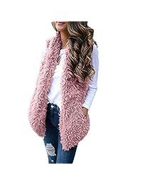 DongDong Women's Casual Coat, Solid Sleeveless Warm Vest Waistcoat with Pockets