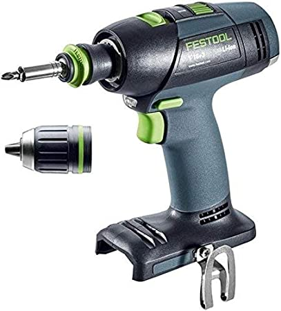 Festool T 18+3 Li-Basic drill Sin llave Multicolor 1,9 kg - Taladro eléctrico (1,3 cm, 4,5 cm, 50 Nm, 35 Nm, 450 RPM, 1500 RPM)