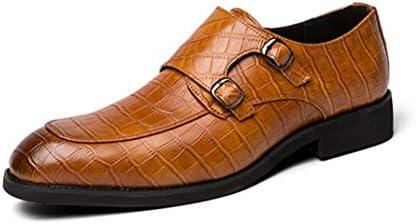 ビジネスシューズ 革靴 Uチップ 紳士靴 モンクストラップ 通気 外羽根 メンズ 歩きやすい フォーマル リクルート 疲れない カジュアル 通勤 オフィス ドレスシューズ 卒業式 ウェディング 大人 男性 クロコ柄スリッポン