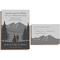 Elegant Mountain Wedding Invitation Sets