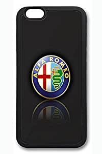 iPhone 4 4s Case - Perfect Fit Soft Rubber Black Back Cover with Alfa Romeo Car Logo 4 Pattern for iPhone 4 4s Scratch-Resistant Protective Soft Case for iPhone 4 4s es