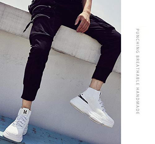 Calcetines Ups y de Sports Zapatos Shoes Couples y Sports Net Lucdespo Teenage Tie Jock Running Paño blanco Oq7AP