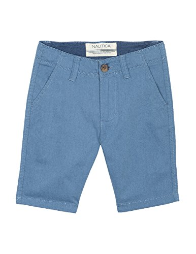 - Nautica Boys' Solid Flat Front Short, Modesto Medium Blue, 7