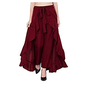 SBJ COLLECTIONS Girls Maxi Overlay Pant Skirt