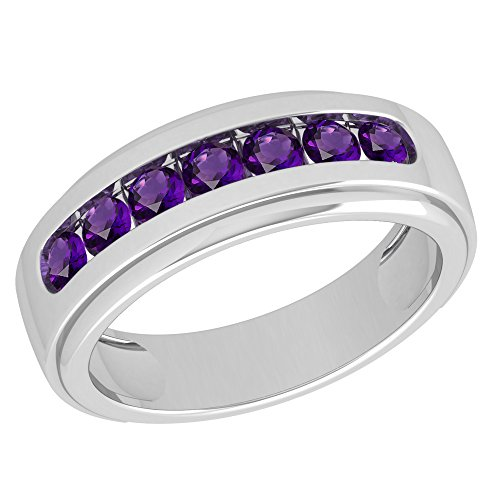 Sterling Silver Orchid - Orchid Jewelry Sterling Silver Father's Day Amethyst Ring