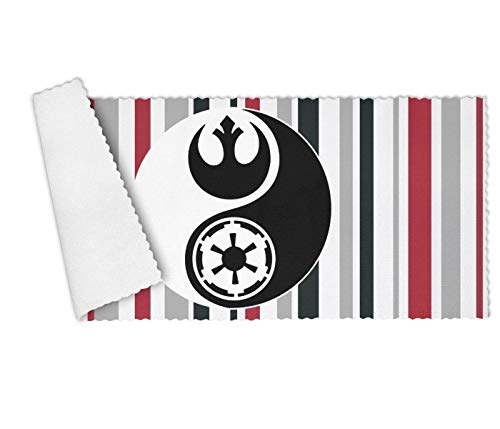 Floowyerion Highly Absorbent Bar Towels & Napkins Towels Star Wars Yin Yang Kitchen Dish Towel Set of 3,12 x 27 in